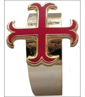 anchored anneau croix templière