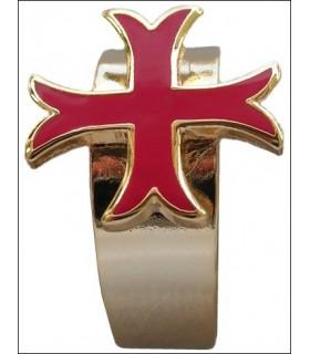 Auto-ajustable Bague croix templière coup