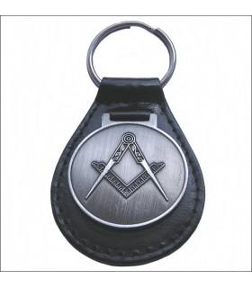 Porte-clés en cuir maçonnique