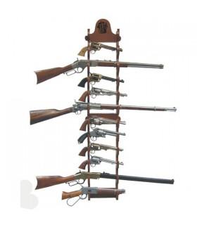 Affichage de 12 canons accroché sur le mur