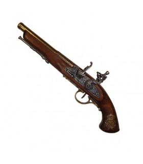 Pistolet à silex, France XIX siècle. (Gaucher)