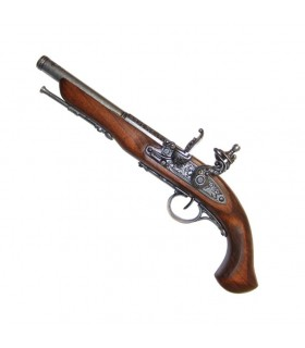 Pistolet à silex, XVIII siècle. (Gaucher)