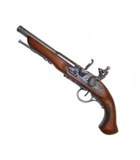 Pistolet à silex, du XVIIIe siècle. (Main gauche)