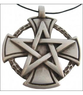 Templar pendentif croix pentagramme
