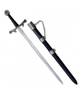 Epée des Templiers avec fourreau (93 cms).