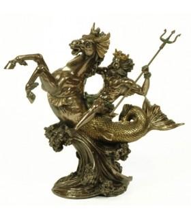 Figure dieu grec de la mer Poséidon 30 cms.