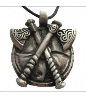 Viking axes pendentif croix