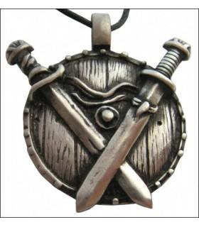 Viking pendentif croix épées