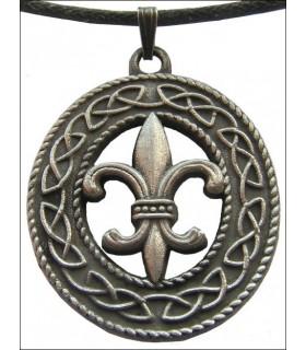 Pendentif celtique Fleur de Lis