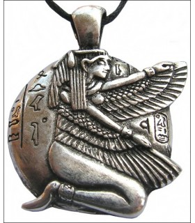 Égyptien pendentif Isis Winged