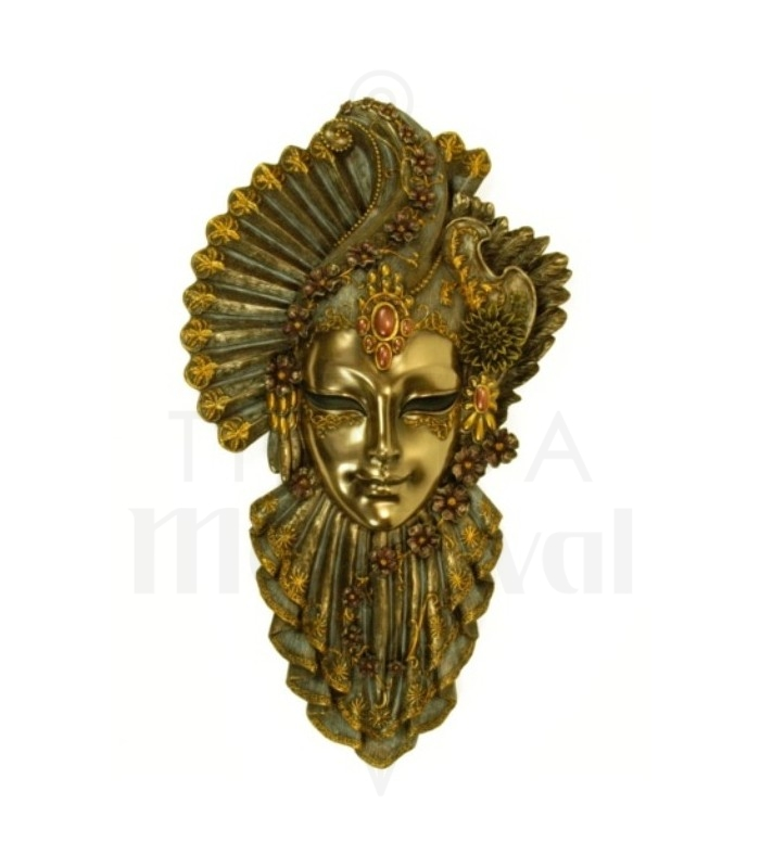 Fleur masque v nitien peinture d coration boutique p es - Masque venitien decoration ...