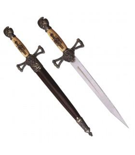 Dague médiévale avec fourreau (35 cm.)