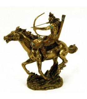 Figure Indien à cheval avec l'arc