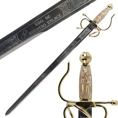 Les noms sur votre épée de mariage