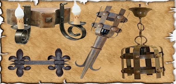 Forge médiévale fabriquée de façon artisanale